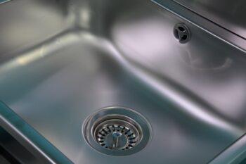 305100 Ausgussbecken Edelstahl mit Küchensiebventil Ventil und Überlauf