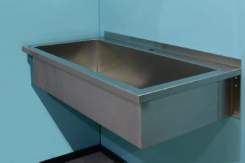 HE371 Wandhängendes Edelstahl Hygienebecken 110x60x25 Werkraumbecken