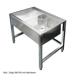 HE360100 Edelstahl-Werkraumbecken Standard