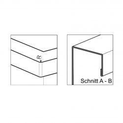 HE365R10 Aufpreis Vorderkanten R10 für Werkraumbecken-SOLID