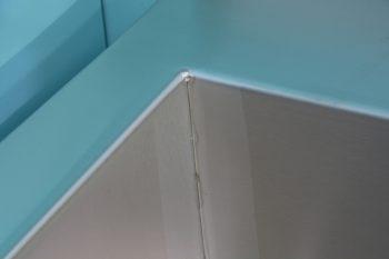 HE366110 Edelstahl Werkraumbecken SOLID wandhaengend aussen geschweisst