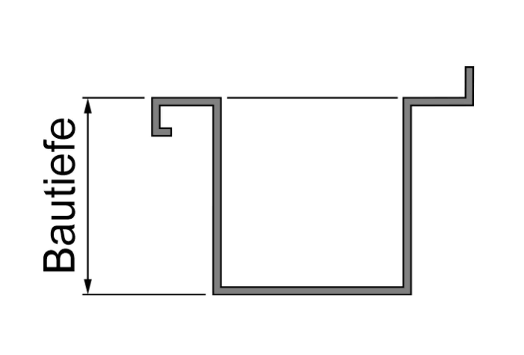 HE367BT30 Edelstahl-Werkraumbecken-Solid-Aufpreis Bautiefe-bis zu 300mm