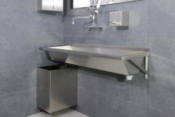 407120 Edelstahl Waschrinne Geometrik Im Einsatz(2)