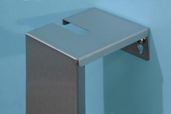 840100 Edelstahl-WC-Bürstengarnitur Serie Funktion Oben