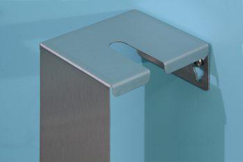 840100 Edelstahl-WC-Bürstengarnitur Serie Funktion Wechselseite