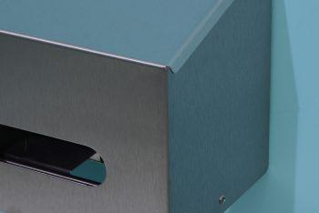 840552 Edelstahl 2-fach-WC-Rollenhalter-waagrecht Kantenbereich