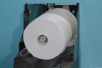 840560-Edelstahl Jumbo-WC-Rollenhalter Serie Funktion Innenleben mit Füllung