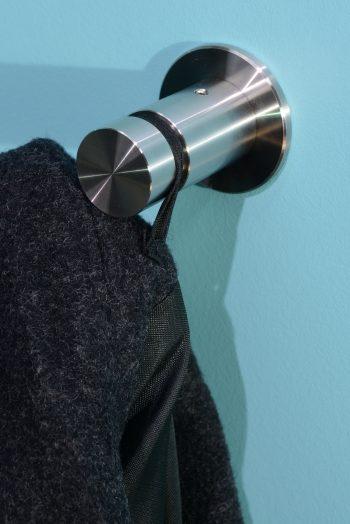 870902 Edelstahl Mantelhaken SOLID mit Rosette