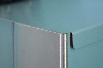 870755 Edelstahl Hygiene-Abfallsammler Deckel-Detail