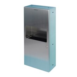 810440 Edelstahl Papierspender-Abfallsammler-Kombination 8,5 Liter